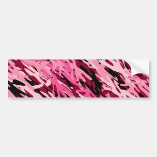 Pink Camouflage Bumper Sticker