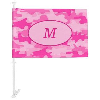 Pink Camouflage Camo Monogram Initial Window Car Flag