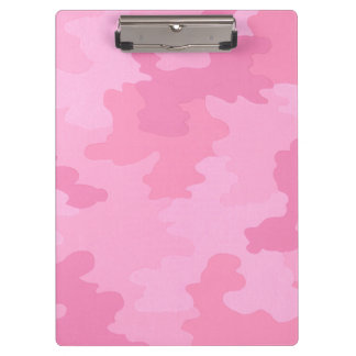 Pink Camouflage Clipboard