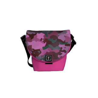 Pink Camouflage Courier Bag
