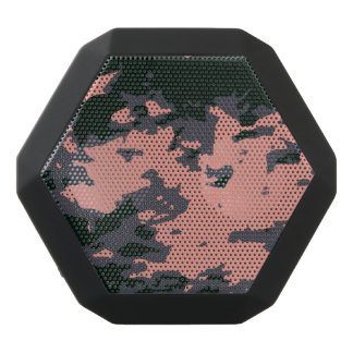 Pink Camouflage Design Black Bluetooth Speaker