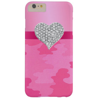 Pink Camouflage Diamond Heart iPhone 6 Case