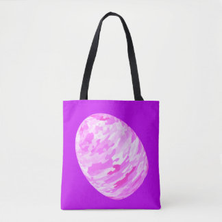 Pink Camouflage Egg Tote Bag