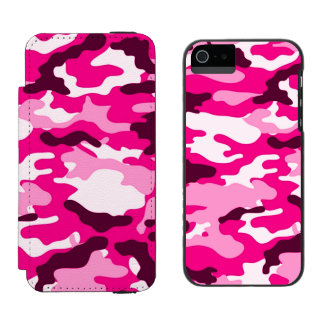 Pink camouflage iPhone 5/5s Incipio Wallet Case Incipio Watson™ iPhone 5 Wallet Case