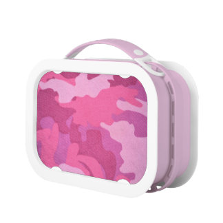 Pink Camouflage Military Pattern Chic Girly Lunch Boxes
