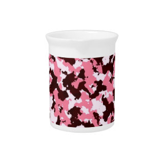 Pink Camouflage Pitcher
