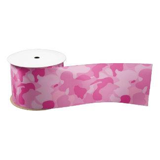 Pink Camouflage Satin Ribbon