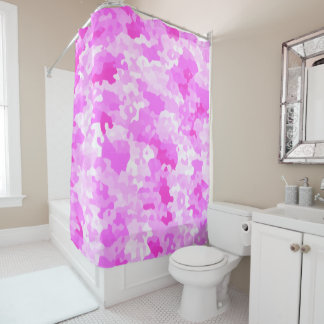 Pink Camouflage Shower Curtain