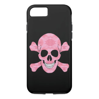 Pink Camouflage Skull And Crossbones iPhone 7 Case