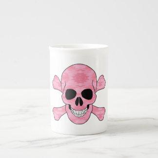 Pink Camouflage Skull And Crossbones Mug
