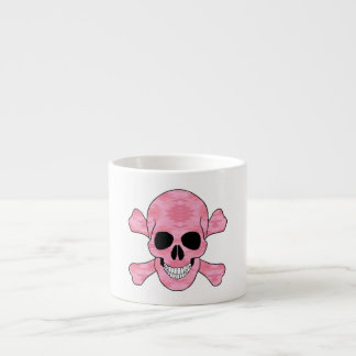 Pink Camouflage Skull And Crossbones Mug Espresso Cup