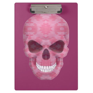 Pink Camouflage Skull Clipboard