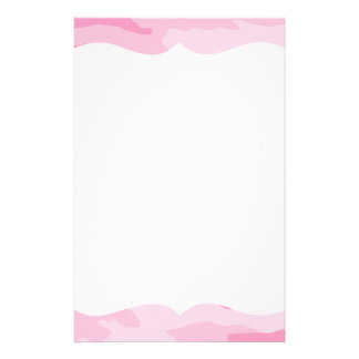 Pink Camouflage Stationery