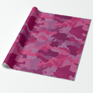 Pink Camouflage Wrapping Paper