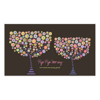 Pink Candy Retro Personal Business Profile Card Pack Of Standard Business Cards