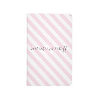 Pink Candy Stripe Evil Schemes Journal