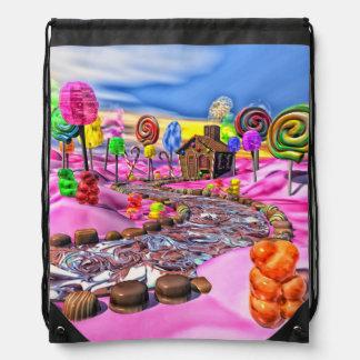 Pink Candyland Drawstring Backpack