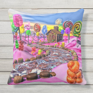 Pink Candyland Outdoor Cushion