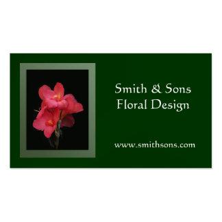 Pink Canna Elegant Business Card