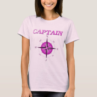 Pink Captain with Compass Rose T-Shirt