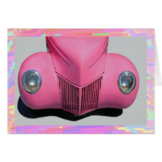 Pink Car Greeting Card