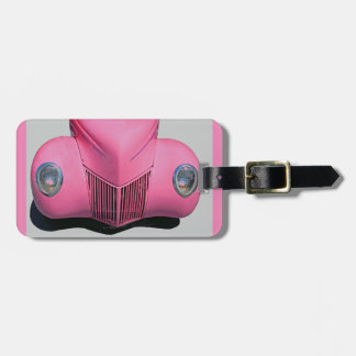 Pink Car Luggage Tag