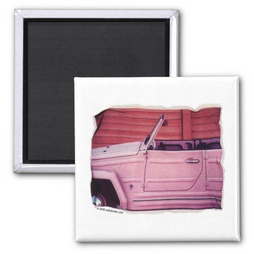 Pink Car Magnet