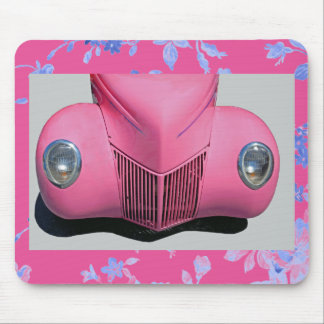 Pink Car Mouse Pad