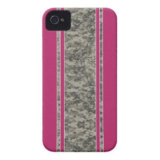 Pink Carbon Fiber & Camo iPhone 4 Case