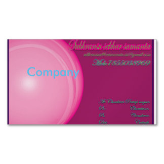 Pink card magnetic business cards