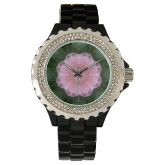 Pink Carnation Abstract Design Watch