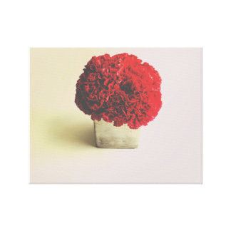 Pink Carnation Bouquet on Canvas