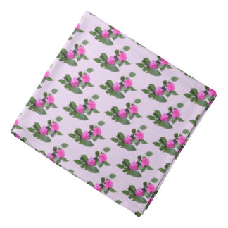 Pink Carnation Flowers Bandana