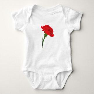 Pink Carnation Rose Baby Bodysuit