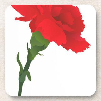 Pink Carnation Rose Coaster