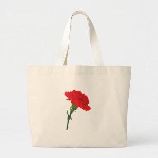 Pink Carnation Rose Large Tote Bag