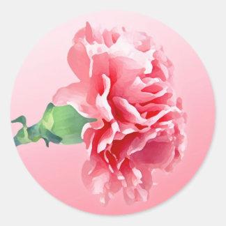 Pink carnation sticker