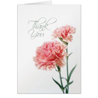 Pink Carnation Thank You Card