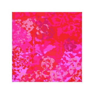 Pink Carnations Abstract Canvas Print
