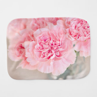 Pink Carnations Burp Cloths