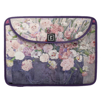 Pink Carnations Rickshaw Flap Sleeve Sleeves For MacBook Pro
