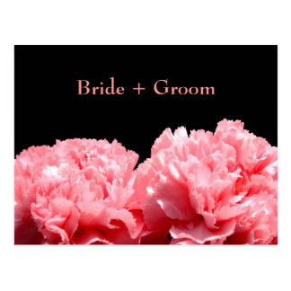 Pink Carnations Save the Date Postcard