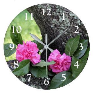 Pink Carnations Wall Clock
