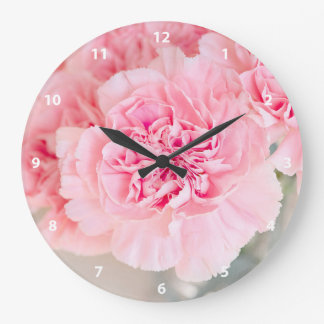 Pink Carnations Wallclocks