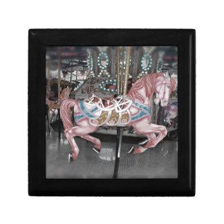 Pink carousel horse gift box