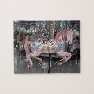 Pink carousel horse jigsaw puzzle