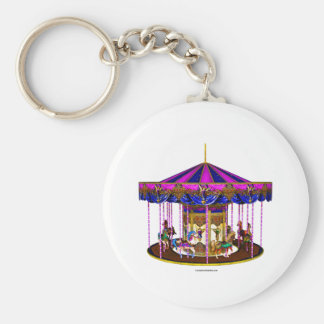 Pink Carousel Key Ring