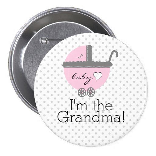 Pink Carriage-Baby Shower Grandma Pins
