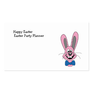 Pink Cartoon Bunny With Blue Bow Tie Pack Of Standard Business Cards