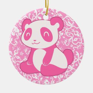 Pink Cartoon Panda Ceramic Ornament